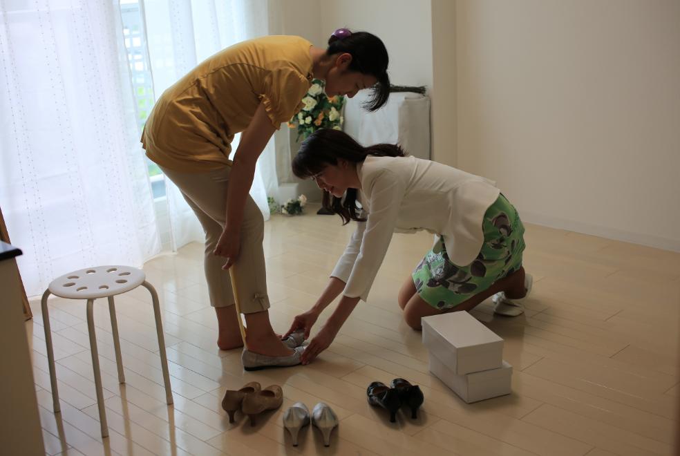 靴試着|サロン美足