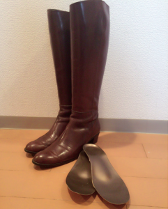ブーツとインソール1